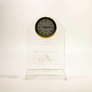 Acrylic Clock Award