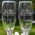 Champagne Glass Engraving