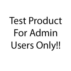 Test Product For Admin User